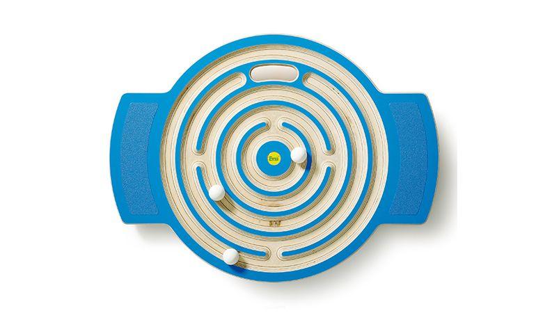 Trackboard Labyrinth blau