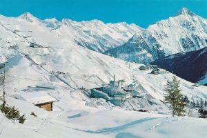 Vom Bergbau zur Bergbahn: Das Werksgelände im Winter. (c) Archiv Franz Warum