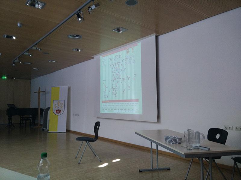 Bild einer seiner Folien vom Vortrag.