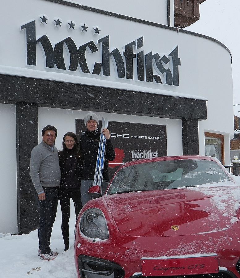 Auch Formel 1 Fahrer Nico Hülkenberg war schon zum Skifahren im Hotel Hochfirst in Obergurgl zu Gast.