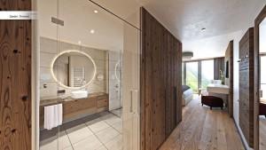 Teil der Zimmer und Suiten im Gurglhof sind mit edlem Holzboden versehen