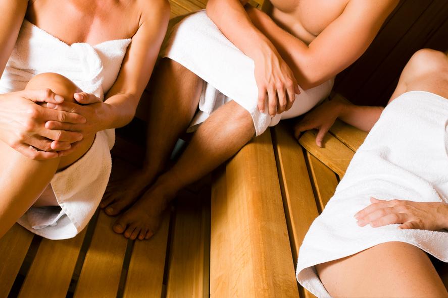 ... die Abende oft in der hauseigenen Sauna