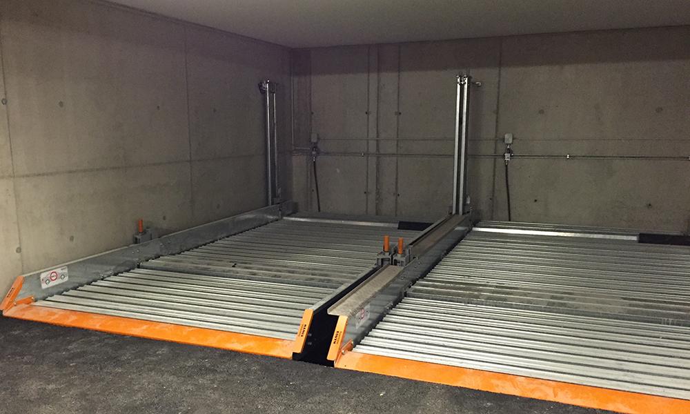 Technisches Highlight unter dem Hotel Gurglhof: eine Multiparking-Anlage