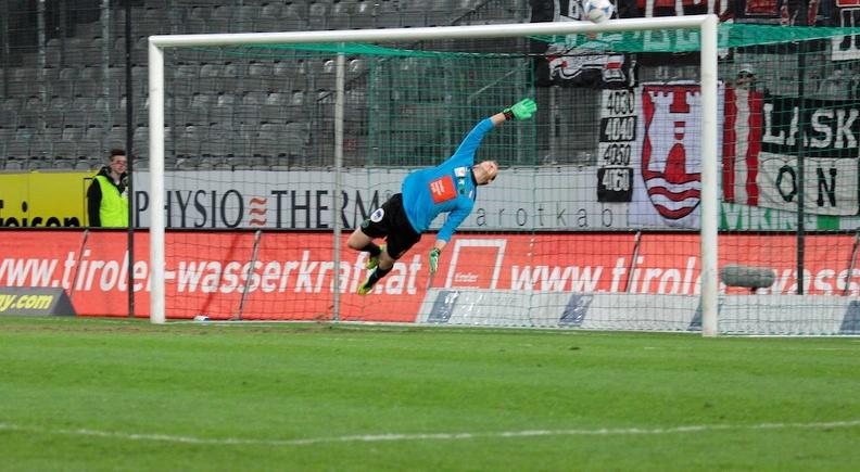 Julian Weiskopf ist derzeit die Nummer 2 im Tor des FC Wacker Innsbruck.