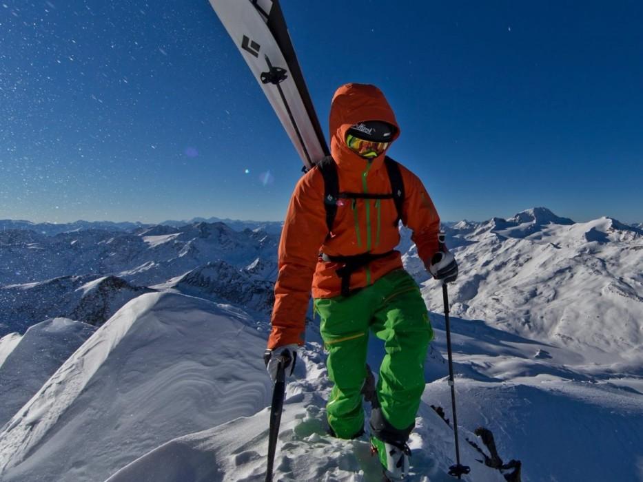 Thomas Gaisbacher am Gipfel der Fineilspitze.