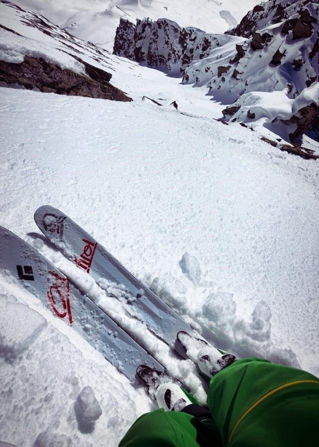 Skifahren, wo die meisten Menschen kaum noch stehen können.
