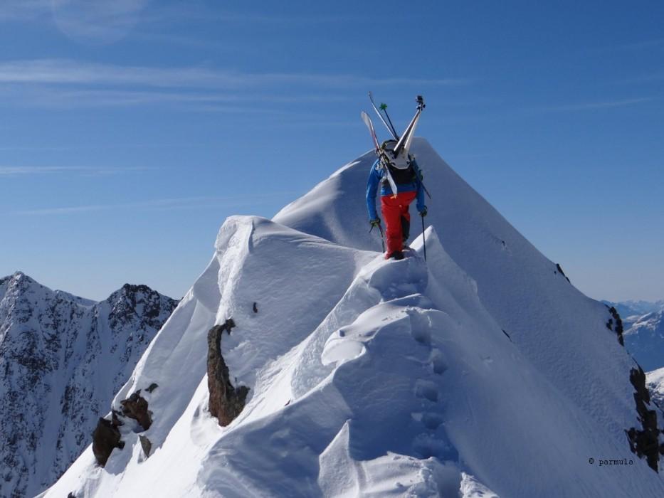 Nur noch wenige Meter bis zum Gipfel.