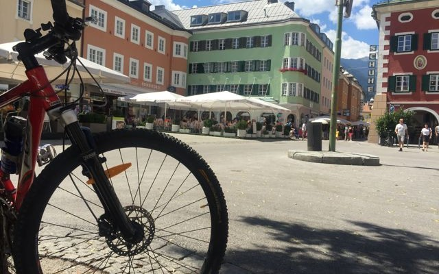 Und auch das Mountainbike hat sich eine Pause verdient. (C) Florian Warum