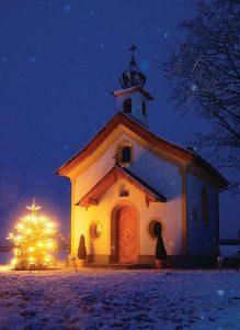 Die Peternhof Kapelle zur Vorweihnachtszeit