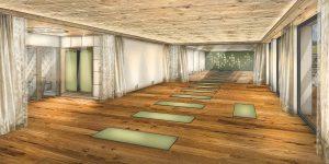 Das Outdoor-Programm kann man auch mit Yoga kombinieren.