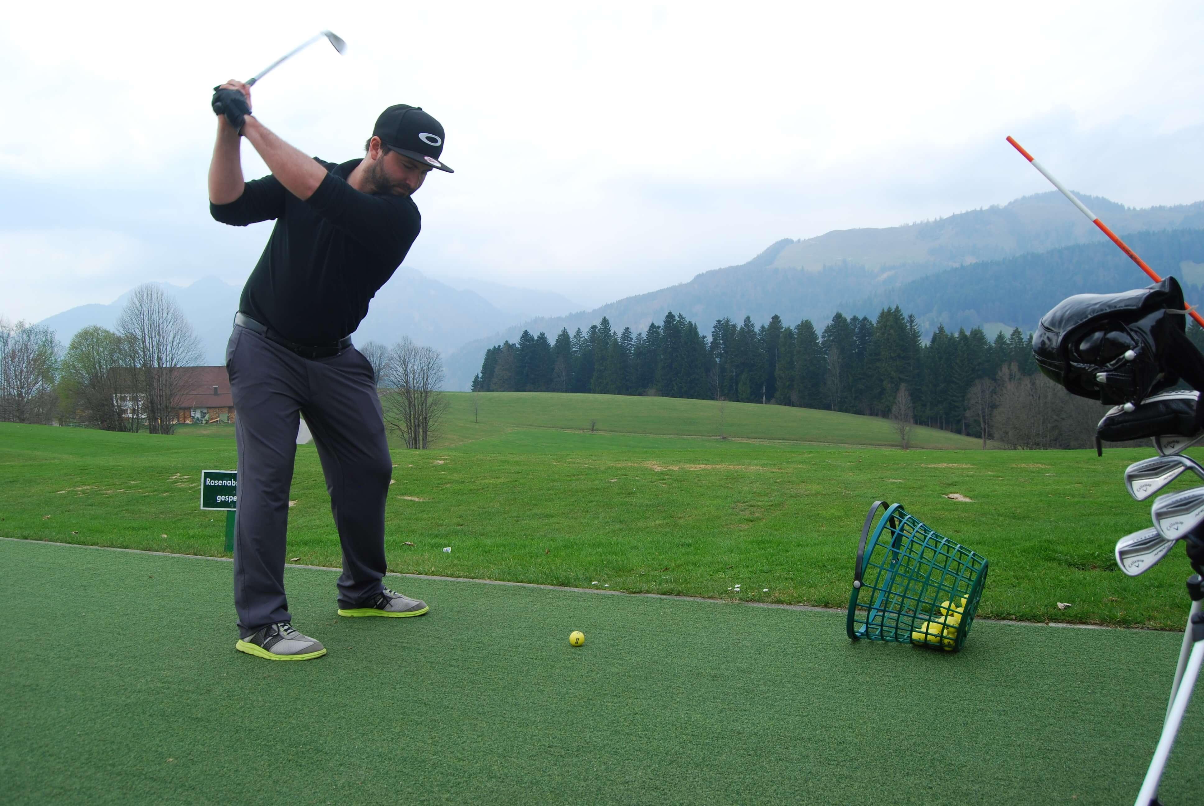 Los gehts! Golfen im Peternhof ist wieder angesagt. (C) Florian Warum