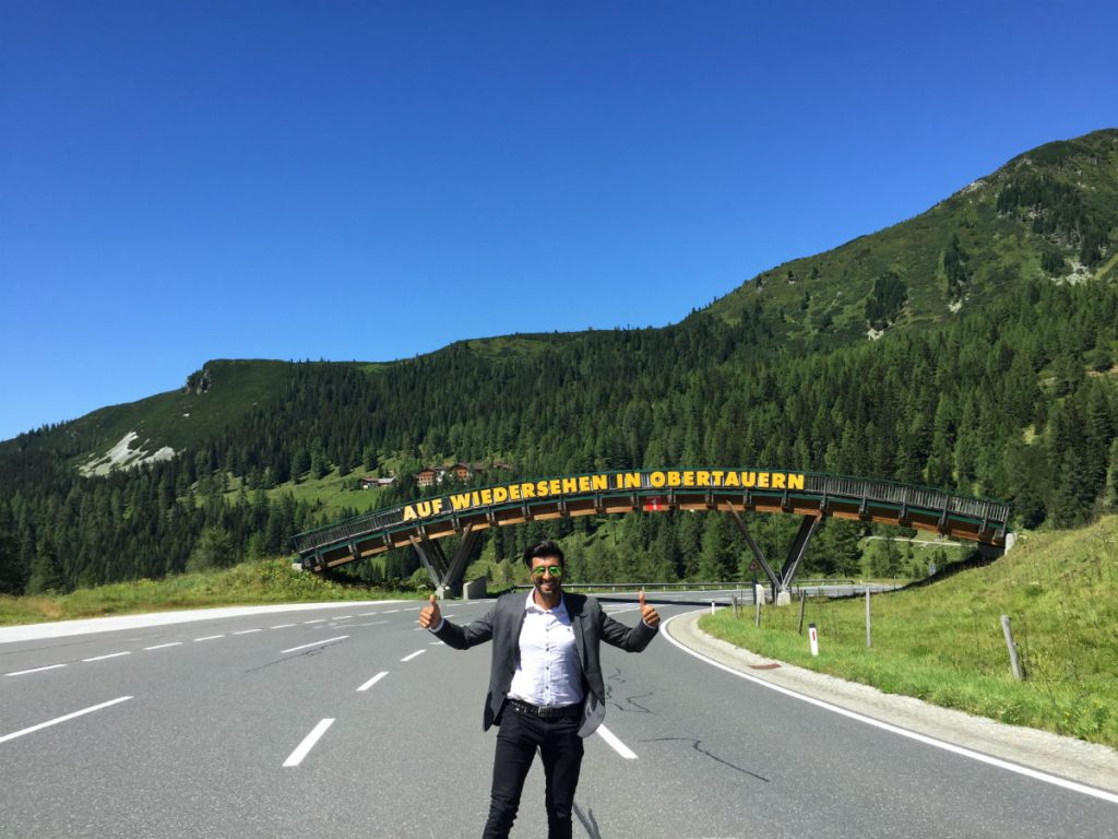 "Next day on our way back to Salzburg. Auf Wiedersehen means ""see you again"". Yes Obertauern, I see you again soon, but next time in the winter."