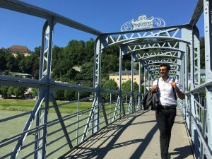 The weather was perfect… (not too hot like in Delhi) loved the view from Mozartsteg (name of the bridge)