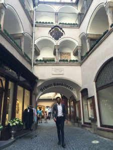 In the old town… walking like mr. Amitabh Bachan right?