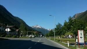 Auf der Straße nach Ischgl