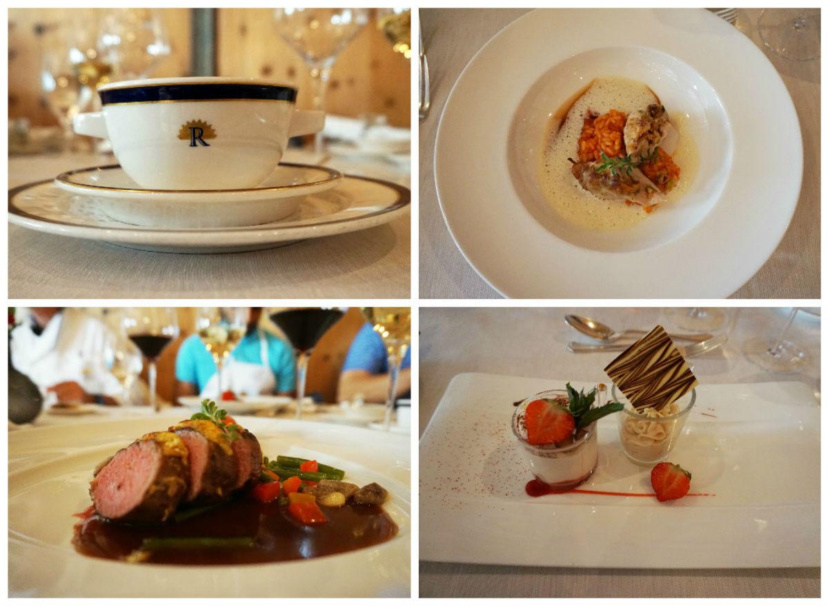 Unser Endergebnis: Suppe, Vorspeise, Hauptspeise und Dessert. :-)