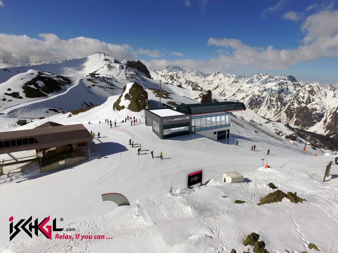 Die Bergstation der neuen Flimjochbahn. (Foto: TVB Ischgl)