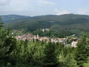 Der Blick auf Bleiburg. Leider ohne den mystischen Nebel.