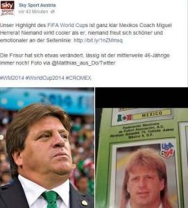Sky Sport Austria verneigt sich vor dem extrovertierten Herrera.