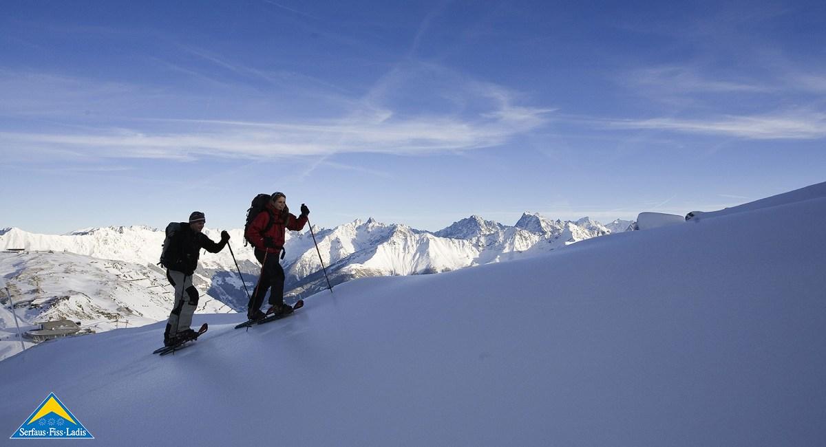 Schneeschuhwandern in Serfaus-Fiss-Ladis: Wie bitteschön soll man der Natur und der Region noch näher kommen? (Bild: TVB Serfaus-Fiss-Ladis)