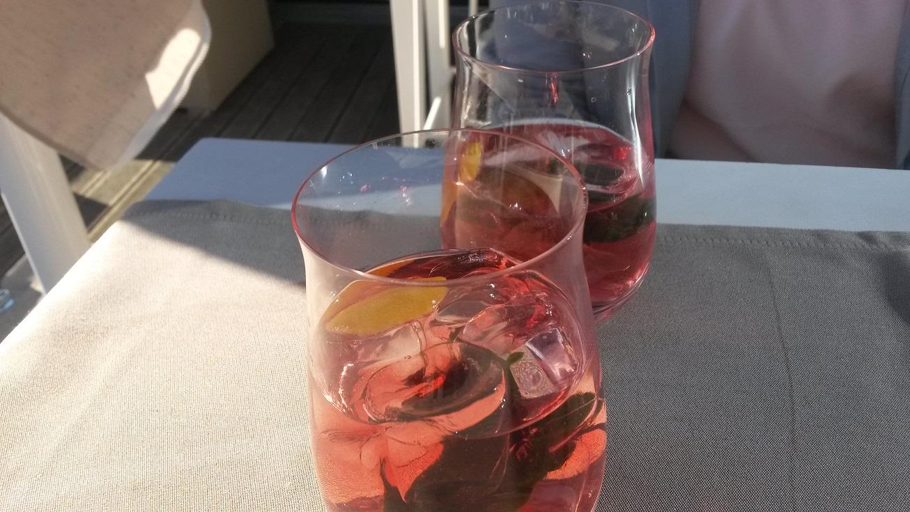 Sehr guter Drink gleich zum Beginn des Abends!