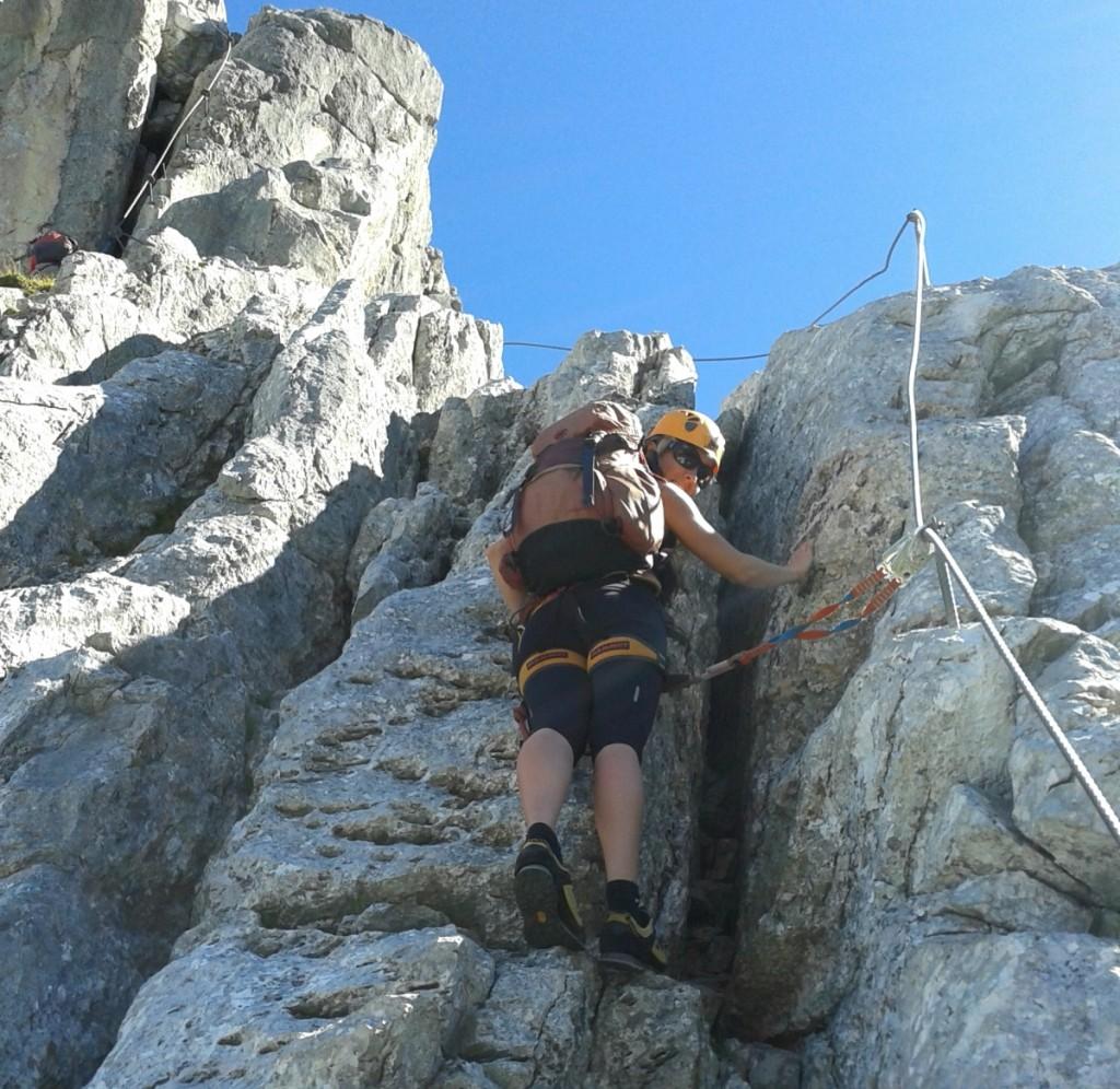 So ein Klettersteig kann viel Spaß machen. Ein wunderbares Naturerlebnis bietet er obendrein.