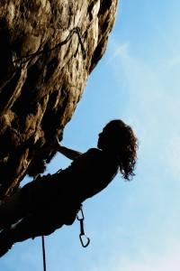 Tapfere Kletterin: Julia