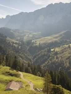 Morgenstunde im Kaisergebirge. Früh aufstehen lohnt sich.