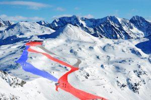 Obertauern benutzt bereits das von Technoalpin entwickelte System der Skipisten Farben und erleichtert somit Skifahrern die Orientierung im Skigebiet.