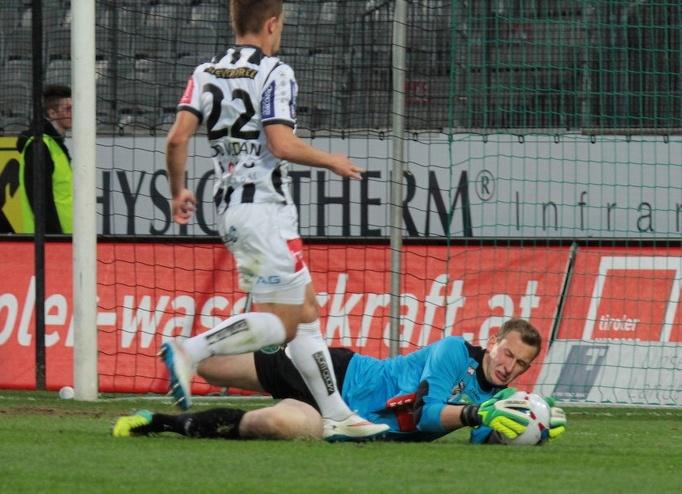 Als Ersatzmann für den Ex-Nationalgoalie Pascal Grünwald wird zurecht als große Hoffnung für das schwarz-grüne Tor bezeichnet. Foto: www.tivoli12.at