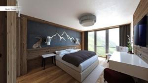 Das rustikale Altholz verleiht den Räumen ein heimeliges Gefühl von Gemütlichkeit
