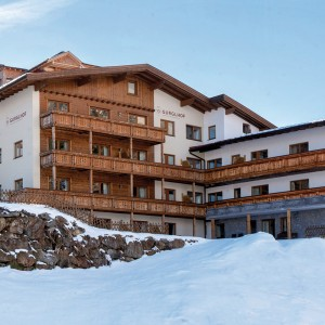 Das Apartmenthaus Gurglhof im Winter